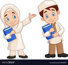 Cartoon muslim kids vector image on VectorStock Urdu Stories For Kids, Moral Stories For Kids, School Cartoon, Cartoon Boy, Kids Vector, Vector Free, Book Cover Design, Book Design, Banners