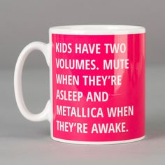 Personalised Mug Kids Have Two Volumes Personalized Mugsunusual Giftsspecial