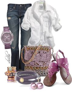 """""""Lilac Casually"""" by shuchiu on Polyvore"""
