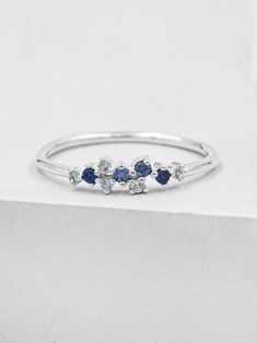 Simple Glass Crystal Ring Plated Brass sparkling iridescent tones simple minimal stacking ring
