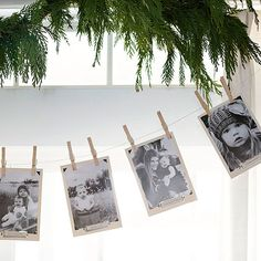 This garland can also be a fun party game! Use a instant printing camera with your guests to add to your decorations: http://www.bhg.com/christmas/garlands/holiday-garland-ideas/?socsrc=bhgpin112013everchangingphotogarland&page=10