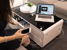 A Futuristic Coffee Table That Can Charge Your Phone and Store Your Beers - UltraLinx