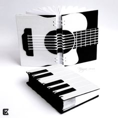 Beautiful guitar hand bound book. Music by ~kinga76 on deviantART