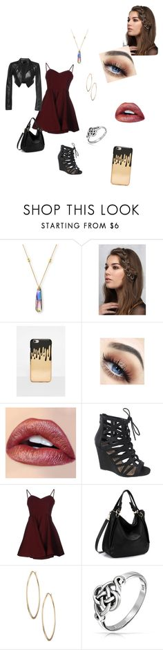 """""""Untitled #44"""" by isabelle-923 on Polyvore featuring Alex and Ani, Rare London, Missguided, Yoki, Glamorous, Lydell NYC, Bling Jewelry and Leka"""