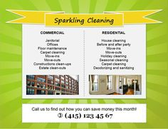 Download Free House cleaning flyers and ad ideas. Fully editable and printable examples for different cleaning services and businesses.