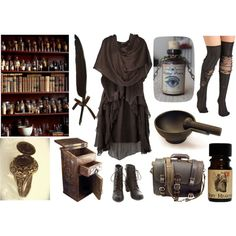 Apothecary Witch by maggiehemlock on Polyvore featuring Phase Eight, Viktor & Rolf, Robert Welch and Fountain