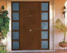 Puerta exterior Modern Front Door, Front Doors, Tall Cabinet Storage, Furniture, Home Decor, Doors, Wood Doors, Entry Gates, Entry Hall