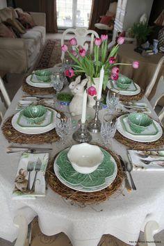 Adorable Easter table! #tablescape homechanneltv.com
