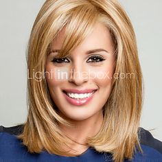 BLONDE UNICORN Beautiful Bob Wigs Human Hair Wigs with Bangs for Women Blonde *** Check out this great product. (This is an affiliate link) Medium Hair Cuts, Medium Hair Styles, Short Hair Styles, Blonde Bob Hairstyles, Wig Hairstyles, Stylish Hairstyles, Hairdos, Pretty Hairstyles, Cheap Human Hair