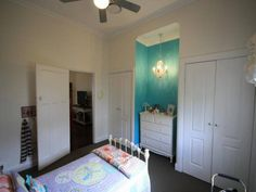 34 Cook Street Muswellbrook  Love the inset Drawers and the iron bed and quilts