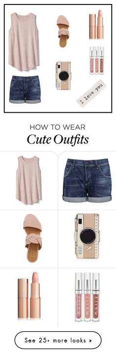 """Cute Spring/Summer Outfit"" by elephant-blue on Polyvore featuring Gap, Corso Como, Citizens of Humanity and Kate Spade"