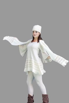 Gypsy Dream TUNIC Dress- Exclusive - Designed by Gina Louise- Checkerboard Sweater Knit. $89.99, via Etsy.