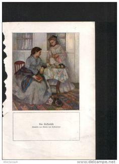 Am Kaffeetisch - Druck, entnommen aus Velhagen und Klasings- Monatsheften, 1916