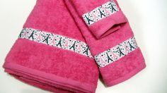 Eiffel Tower Bath Set Hot Pink  Bath Towel Hand Towel  Wash Cloth via Etsy