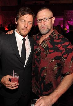 Norman Reedus and Michael Rooker