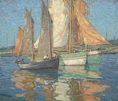 Edgar Alwin Payne (1883-1947) | Breton Boats | 20th Century ...