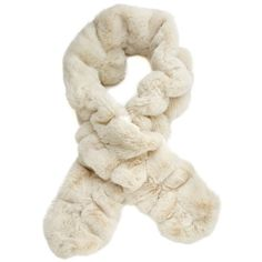 Donna Salyers' Fabulous-Furs Couture Ruffled Scarf (€75) ❤ liked on Polyvore featuring accessories, scarves, ivory mink, ivory shawl, ruffle scarves, ruffle scarf and loop scarves