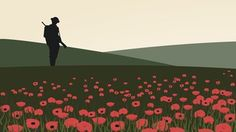 BBC Schools - Remembrance and poppies Display Boards For School, School Displays, Classroom Displays, Soldier Silhouette, Silhouette Art, Ww1 Display, Display Ideas, Flanders Field Poppies, Ww1 Pictures