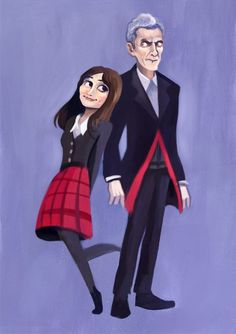 Doctor Who Official on Tumblr - Clara and the Twelfth Doctor. --OMG I LOVE IT
