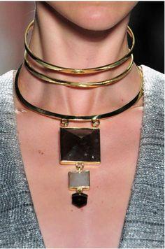 Zimmermann Modernist Choker Necklace SS 14 New York Fashion Week
