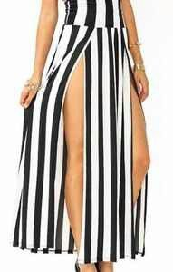 Slice striped legz skirt $39.99 krushgirlz.bigcartel.com
