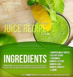 The Super Green Liver Cleanse Recipe.. Looking for a juice recipe to start out a liver cleanse? Then this is the solution to that!