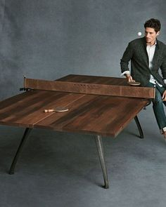 Our industrial style ping pong table is a multi purpose item that is both interactive and functional. No matter what your space it can be incoroporated as games, meeting and dining table. Resort deals for all of my Table Tennis friends! Agave Bar, Diy Table, Ping Pong Table Diy, Ping Pong Room, Pool Table Dining Table, Cake Table, Table Games, Game Room, Man Cave