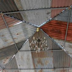 Galvanized Tin Roof Ridge Cap Decor Store Barn Vintage