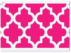6 Pack Hot Pink Geo Graphics Theme Print Gift Enclosure Card Cards *** Continue to the product at the image link.