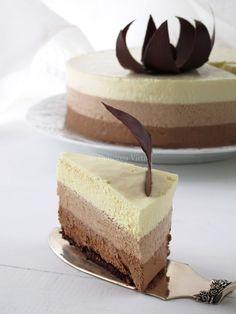 Bavarese ai tre cioccolati