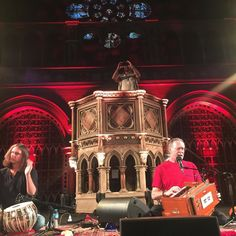 The gospel according to Krishnadas & the very Reverent Mel in the pulpit. @melvynsebastian @mbsfestival @krishnadasmusic @sholasays