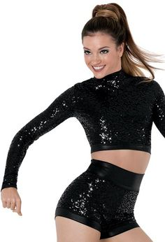 Long-Sleeve Sequin Dance Top | Balera™