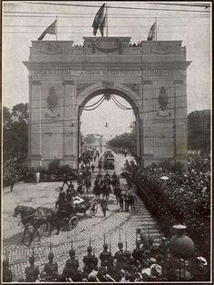 Crédito: A Cigarra Edição 167 Arco do Triunfo em gesso e madeira de 1921 em homenagem à visita do presidente Epitácio Pessoa a São Paulo