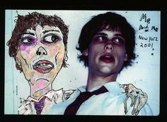 Matthew Gray Gubler's portrait of himself (you may recognize him as Spencer from the TV show Criminal Minds) If you haven't checked out his artwork on his website please do, well worth it.