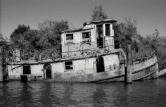 Abandoned - sunken ships, boats, ferries, & barges have given me the creeps since I was a kid.