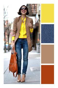 13 prendas que toda mamá debería tener en su guardarropa Colour Combinations Fashion, Color Combinations For Clothes, Color Blocking Outfits, Fashion Colours, Colorful Fashion, Mode Outfits, Fashion Outfits, Womens Fashion, 40s Fashion