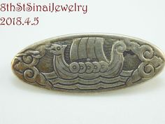 Viking Ship, Sterling Jewelry, Brooch Pin, Vikings, Scandinavian, Vintage Jewelry, Silver, Accessories, Ebay