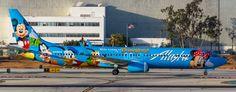 "https://flic.kr/p/XHB8Q6 | Alaska Airlines N318AS pmb19- | Boeing 737-990, painted in ""The Spirit of Disneyland II"" special colours Dec 2009, LAX, 29.10.2013."