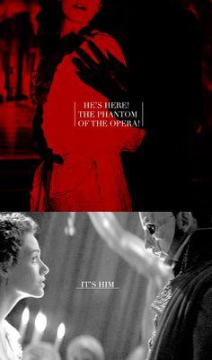 He's here! The Phantom of the Opera! It's him.