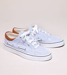 creative recreation striped luchese boat sneaker