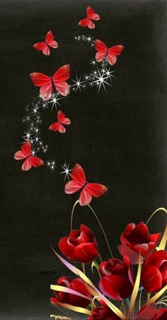 Free tulips and butterfly mobile wallpaper by on Tehkseven Flower Background Wallpaper, Flower Phone Wallpaper, Heart Wallpaper, Butterfly Wallpaper, Flower Backgrounds, Cellphone Wallpaper, Galaxy Wallpaper, Mobile Wallpaper, Wallpaper Backgrounds