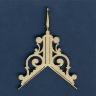"""Dollhouse Miniature Small Wood Finial Architectural Ornament 12 Pieces 1:12 3//8/"""""""
