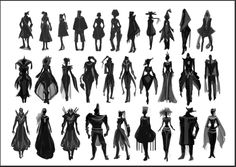 Silhouettes for my personal concept project,Miraj.