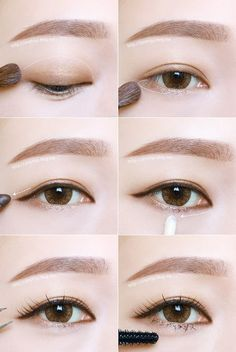 Mac Eye Makeup Tutorial Natural in Natural Eye Makeup Dark Skin - Makeup Tutorial Lipstick Mac Eye Makeup, Asian Eye Makeup, Natural Eye Makeup, Natural Eyes, Eye Makeup Tips, Makeup Hacks, Daily Makeup, Make Up Tutorial Contouring, Makeup Tutorial Eyeliner