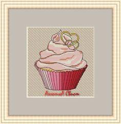 Cupcake Cross Stitch, Cross Stitch Boards, Cross Stitching, Cross Stitch Patterns, Needlework, Embroidery, Crafts, Handmade, Cup Cakes