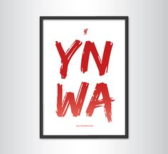 Liverpool FC - You'll Never Walk Alone (YNWA) Print on Etsy, $22.88. #KieranCarroll