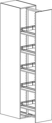 Skafferiskåp Swingout (1950mm) 400mm - Nytt kök badrum och tvättstuga - Vedum kök och bad AB