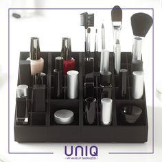 Make up your own makeup organizer !  Uniq Organizer is a modular storage solution for cosmetics products - www.uniqorganizer.com