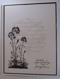 Anothere card for you in my Serene Silhouettes series. I saw this one on Lee Conrey's blog , she was showing a guest stamper - Diane Wint...