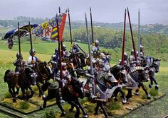 Burgundian cavalry c 1470 28mm Perry Miniatures created by Robert Hornsby